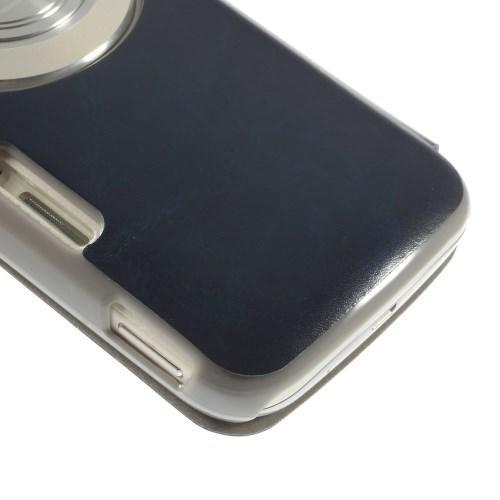 Чехол книжка для Samsung Galaxy K Zoom темно-синий