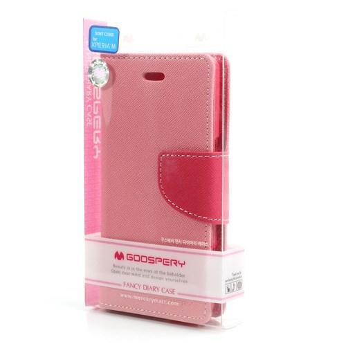 Flip чехол для Sony Xperia M розовый