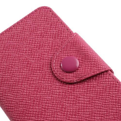 Кожаный чехол книжка для Sony Xperia M розовый