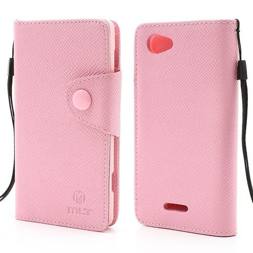 Flip чехол книжка для Sony Xperia L розовый