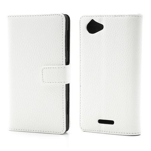 Flip чехол книжка для Sony Xperia L белый
