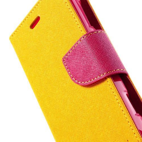 Flip чехол книжка для Sony Xperia L желтый