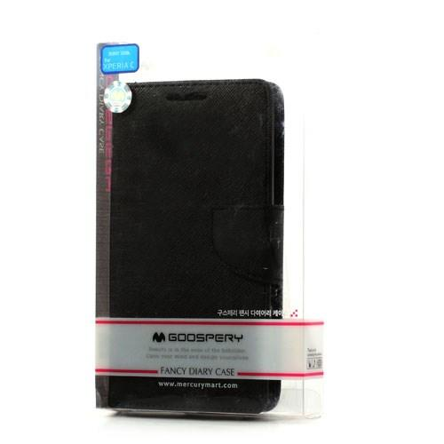 Flip чехол книжка для Sony Xperia C черный Mercury