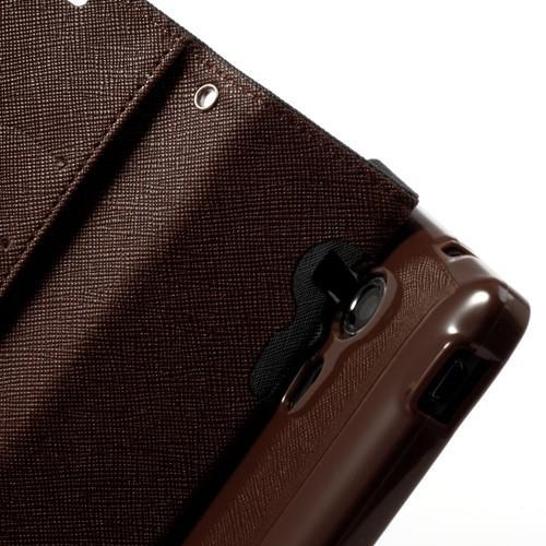 Flip чехол книжка для Sony Xperia SP черный с коричневым