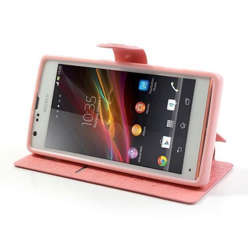 Flip чехол книжка для Sony Xperia SP светло розовый
