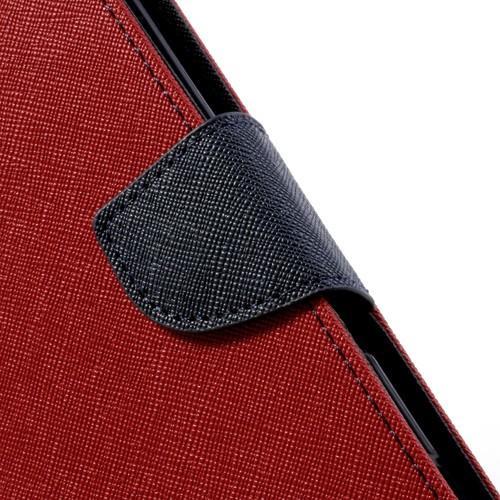 Flip чехол книжка для Sony Xperia ZR красный