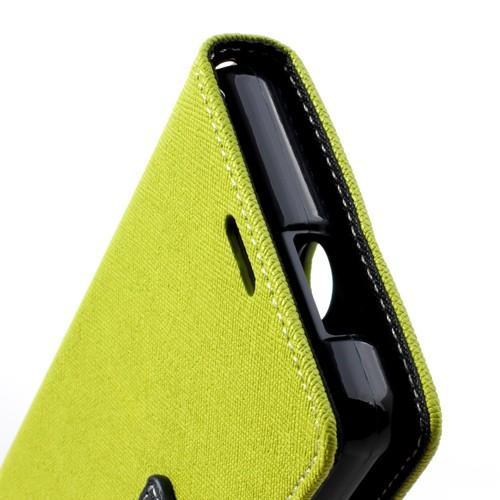 Flip чехол книжка для Sony Xperia ZR зеленый
