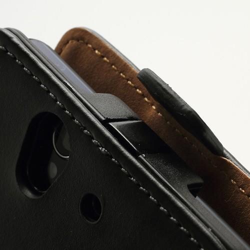 Кожаный чехол книжка для Sony Xperia Z черный