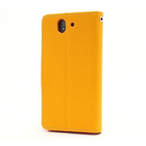 Flip чехол книжка для Sony Xperia Z желтый Bubble Gum