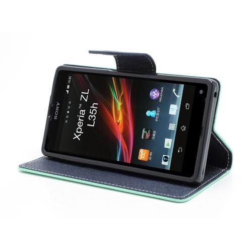 Flip чехол книжка для Sony Xperia Z Cyan/Dark Blue