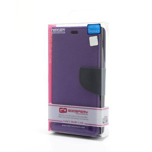 Flip чехол книжка для Sony Xperia Z Purple/Dark Blue
