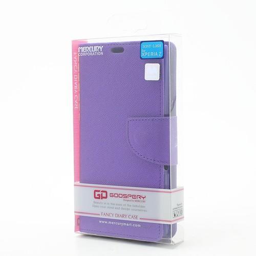 Flip чехол книжка для Sony Xperia Z фиолетовый