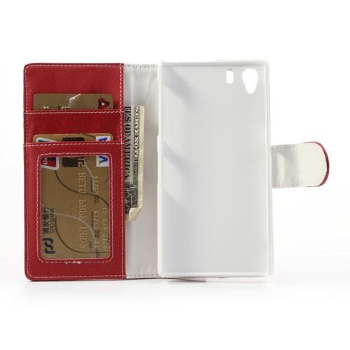 Flip чехол книжка для Sony Xperia Z1 красный