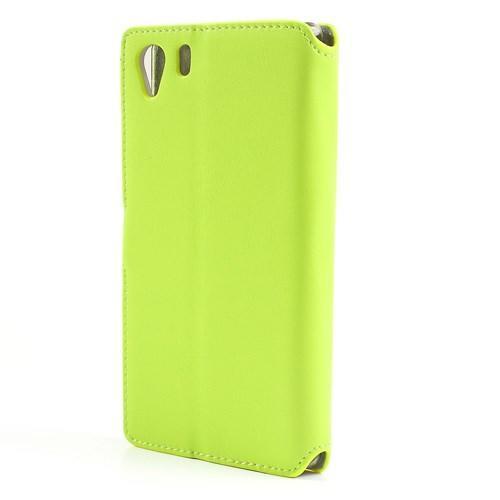 Чехол книжка для Sony Xperia Z1 зеленый