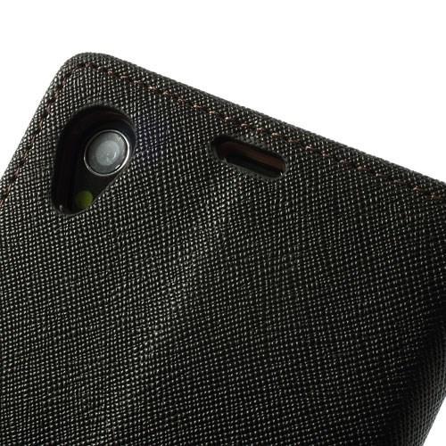 Чехол книжка для Sony Xperia Z1 черный Mercury