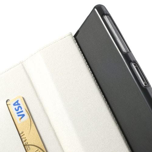 Чехол книжка флип для Sony Xperia Z1 белый