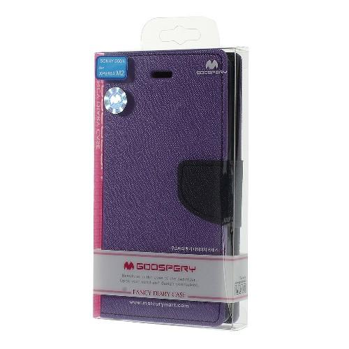 Чехол книжка для Sony Xperia M2 Purple/Dark Blue
