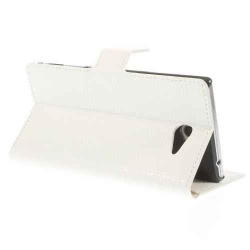 Кожаный чехол книжка для Sony Xperia M2 белый