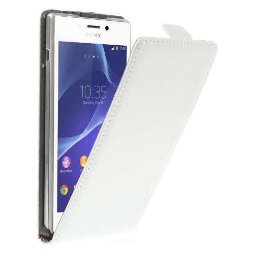 Чехол для Sony Xperia M2 белый Down Flip