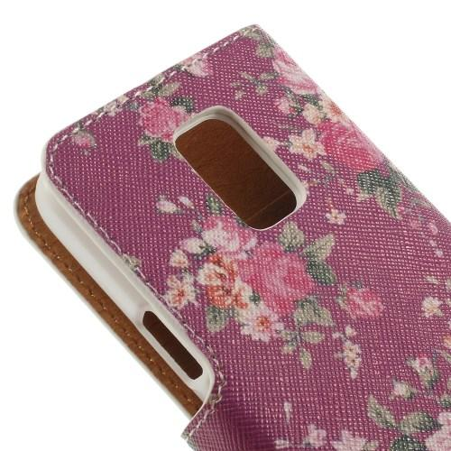 Чехол книжка для Samsung Galaxy S5 mini Rose Flower Pattern