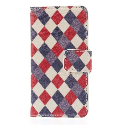 Чехол книжка для Samsung Galaxy S5 mini Rhombus Pattern