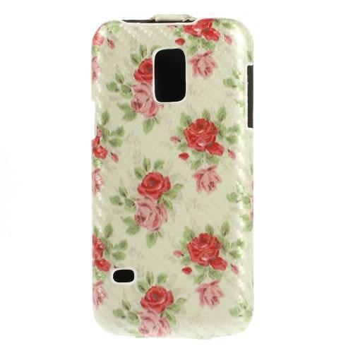 Чехол Down Flip для Samsung Galaxy S5 mini Lemon Flower Pattern