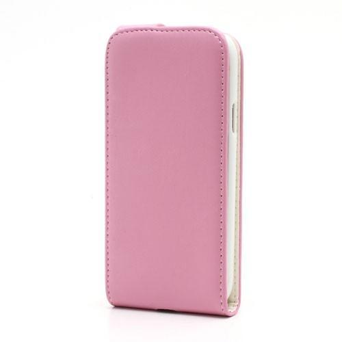 Кожаный Flip чехол для Samsung Galaxy S4 mini розовый