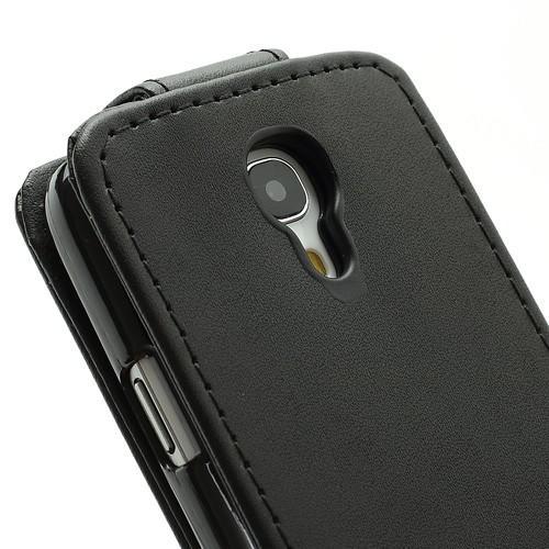 Кожаный чехол флип для Samsung Galaxy S4 mini черный