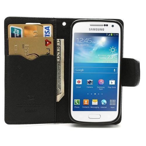 Flip чехол книжка для Samsung Galaxy S4 mini черный