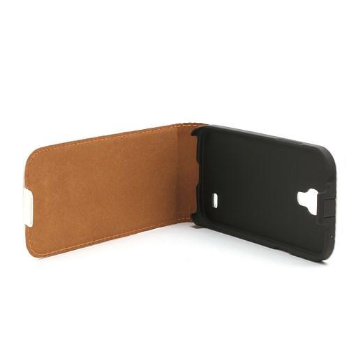 Кожаный Flip чехол для Samsung Galaxy S4 mini белый