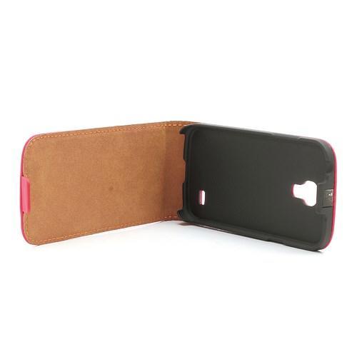 Кожаный Flip чехол для Samsung Galaxy S4 mini красный