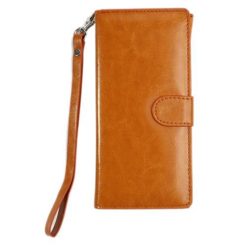 Чехол-футляр для смартфона коричневый цвет