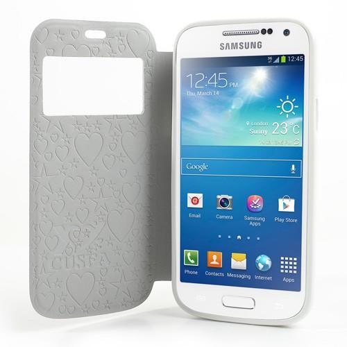 Flip чехол книжка для Samsung Galaxy S4 mini Green Flowers