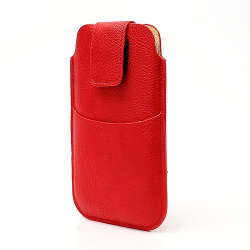 Чехол-футляр для смартфона красный цвет Velcro Pouch