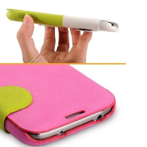 Чехол книжка для Samsung Galaxy S4 BASEUS Rose/Green