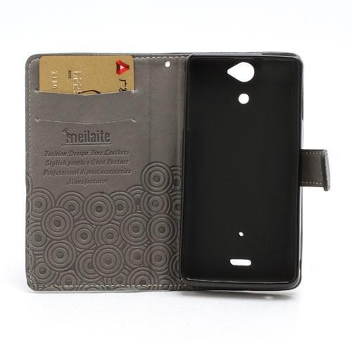 Кожаный чехол книжка для Sony Xperia V черный