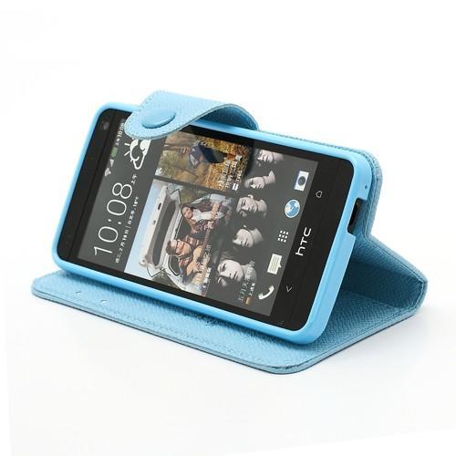 Flip чехол книжка для HTC One M7 голубой
