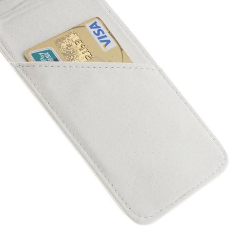 Кожаный чехол книжка для Samsung Galaxy S5 белый