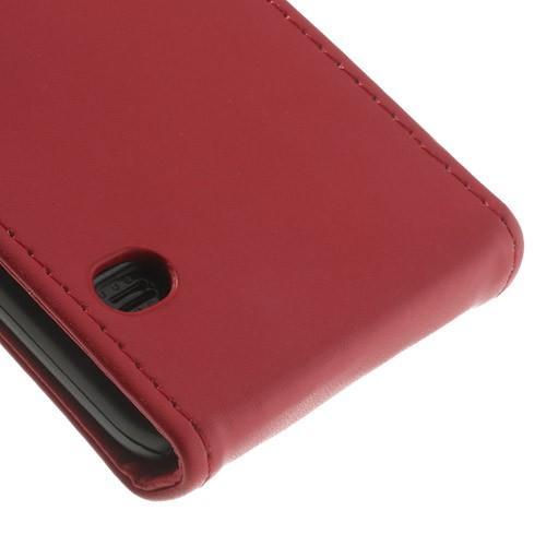 Кожаный чехол книжка для Samsung Galaxy S5 красный