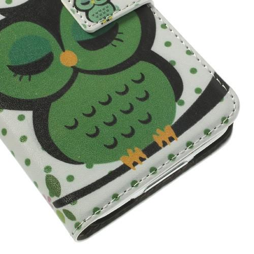 Чехол книжка для Samsung Galaxy S5 Sleepy Owl