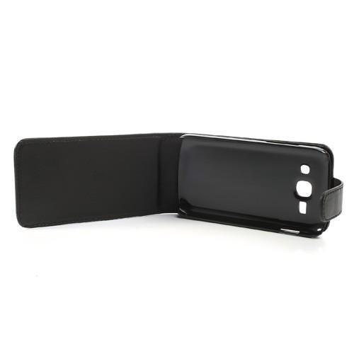 Кожаный чехол книжка для Samsung Galaxy Ace 3 черный