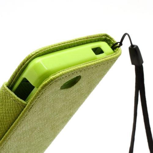 Чехол книжка для Sony Xperia Go зеленый