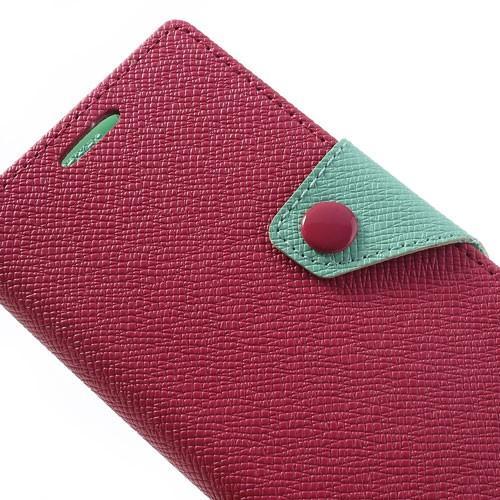 Чехол книжка для Sony Xperia Z1 Compact Red/Cyan