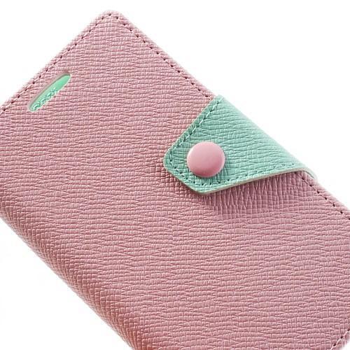 Чехол книжка для Sony Xperia Z1 Compact Pink/Cyan