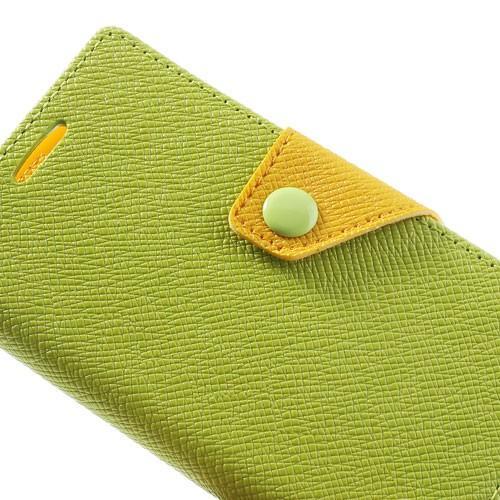 Чехол книжка для Sony Xperia Z1 Compact Green/Yellow
