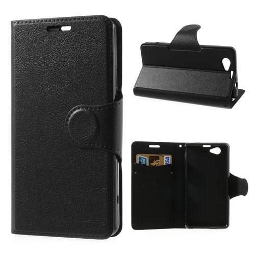 Чехол книжка для Sony Xperia Z1 Compact черный Dimanche