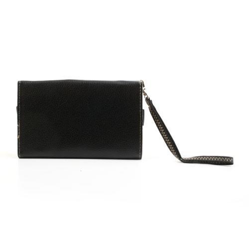Чехол-футляр с функцией кошелька для смартфона черный цвет