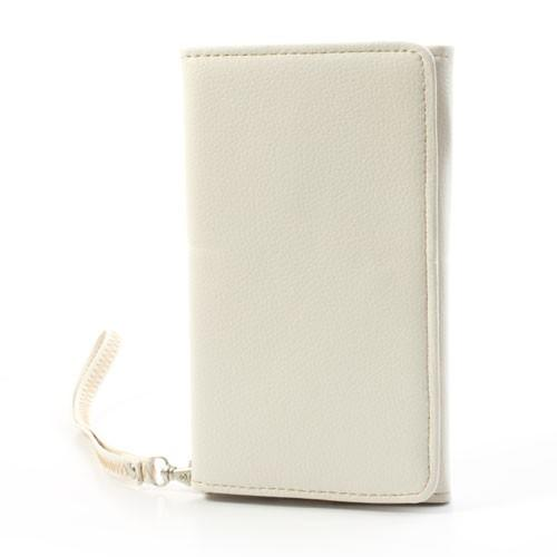 Чехол-футляр с функцией кошелька для смартфона белый цвет