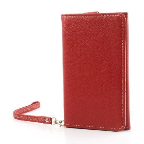 Чехол-футляр с функцией кошелька для смартфона красный цвет