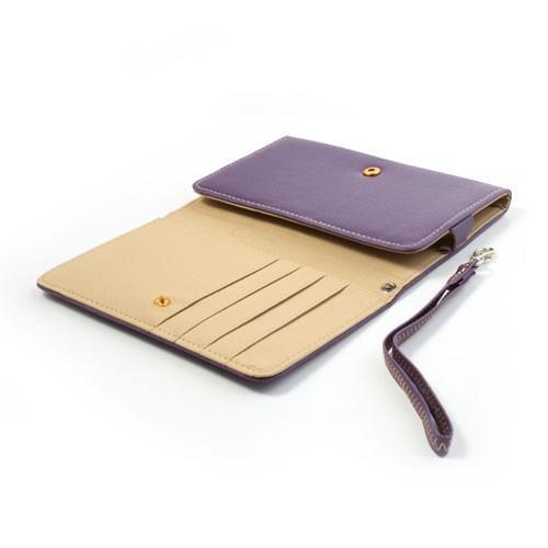 Чехол-футляр с функцией кошелька для смартфона фиолетовый цвет